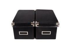 Изолированный черный ящик Стоковые Изображения RF