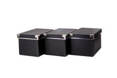 Изолированный черный ящик Стоковая Фотография RF