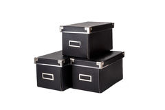 Изолированный черный ящик Стоковые Фото