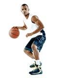 Изолированный человек баскетболиста Стоковая Фотография