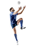 Изолированный человек игрока рэгби Стоковое фото RF
