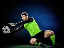 Изолированный человек футбола голкипера Стоковое Изображение RF