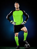 Изолированный человек футбола голкипера Стоковое Фото