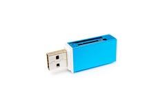 Изолированный читатель карточки USB Стоковое Фото