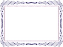 Изолированный шаблон предпосылки рамки для сертификата Стоковые Фотографии RF