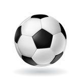 изолированный шариком глянцеватый вектор футбола Стоковая Фотография RF