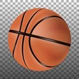 Изолированный шарик баскетбола 3d иллюстрация вектора