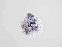 Изолированный шарик белой бумаги с японским текстом Стоковое Фото