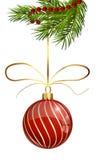 Изолированный шарик рождества блеска Стоковое фото RF