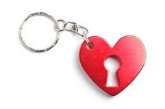 Изолированный шарм формы сердца стоковое изображение rf
