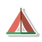 Изолированный шатер для располагаясь лагерем дизайна Стоковые Фото