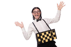 Изолированный шахматист болвана Стоковое фото RF