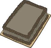 изолированный шоколад торта иллюстрация вектора