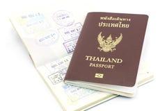 Изолированный штемпель визы пасспорта Таиланда Стоковые Фото