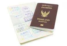 Изолированный штемпель визы пасспорта Таиланда Стоковое фото RF