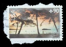 Изолированный штемпель почтового сбора Стоковые Фото
