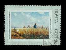 Изолированный штемпель почтового сбора Стоковое Изображение