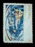 Изолированный штемпель почтового сбора Стоковое Фото