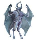 Изолированный дьявол характера одиночного характера акварели мистический мифический Стоковая Фотография