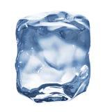 изолированный льдед кубика Стоковое Изображение