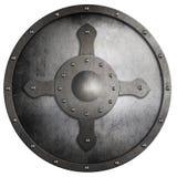 Изолированный экран крестоносца металла круглый стоковые фото
