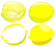 Изолированный эскиз лимонов Стоковые Фото