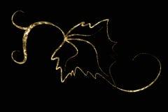 Изолированный элемент орнамента золота Стоковые Изображения RF