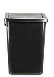 Изолированный ящик изолированный поганью пакостный старый черный Стоковое Изображение