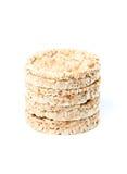 Изолированный Crispbread Стоковые Изображения