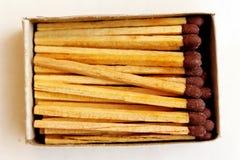 Изолированный matchbox взгляд сверху Стоковая Фотография RF