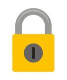 изолированный padlock дизайн значка Стоковое Фото