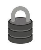 изолированный padlock дизайн значка Стоковая Фотография RF