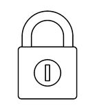 изолированный padlock дизайн значка Стоковая Фотография