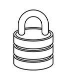 изолированный padlock дизайн значка Стоковые Изображения RF