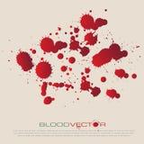 Изолированный splatter, дизайн крови вектора Иллюстрация штока