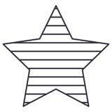 Изолированный striped дизайн звезды Стоковая Фотография RF