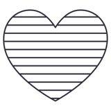 Изолированный striped дизайн сердца иллюстрация штока