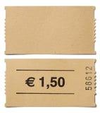 Изолированный stub билета Стоковое Фото