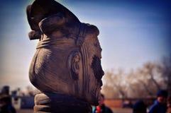 изолированный terracotta воина Стоковое фото RF