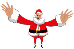 Изолированный Xmas влюбленности объятия Санта Клауса счастливый большой Стоковое Изображение