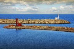 2 изолированных маяка - Тунис Стоковое фото RF