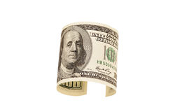 100 изолированных долларовых банкнот, Стоковые Изображения