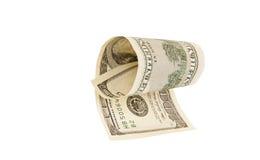 100 изолированных долларовых банкнот, Стоковое Изображение RF