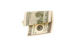 100 изолированных долларовых банкнот, Стоковые Фотографии RF