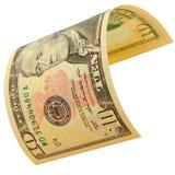10 изолированных долларов Стоковое Изображение RF