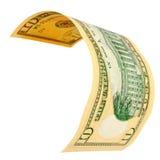 10 изолированных долларов Стоковое Фото