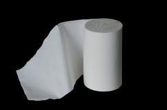 изолировано над бумажной белизной туалета крена Стоковые Фото