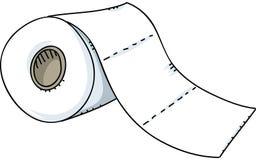 изолировано над бумажной белизной туалета крена иллюстрация штока