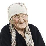 изолировано над женщиной портрета старшей белой стоковое фото