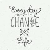 Изо дня в день шанс изменить вашу жизнь в винтажном стиле иллюстрация вектора